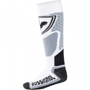 SKARPETY/GETRY ROSSIGNOL L3 W WOOL&SILK WHITE/GRAY