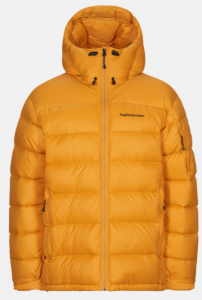 KURTKA PEAK PERFORMANCE FROST DOWN HOOD JACKET YELLOW